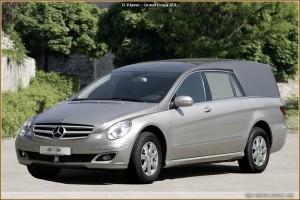 Des Corbillards Mercedes, le R-Klasse
