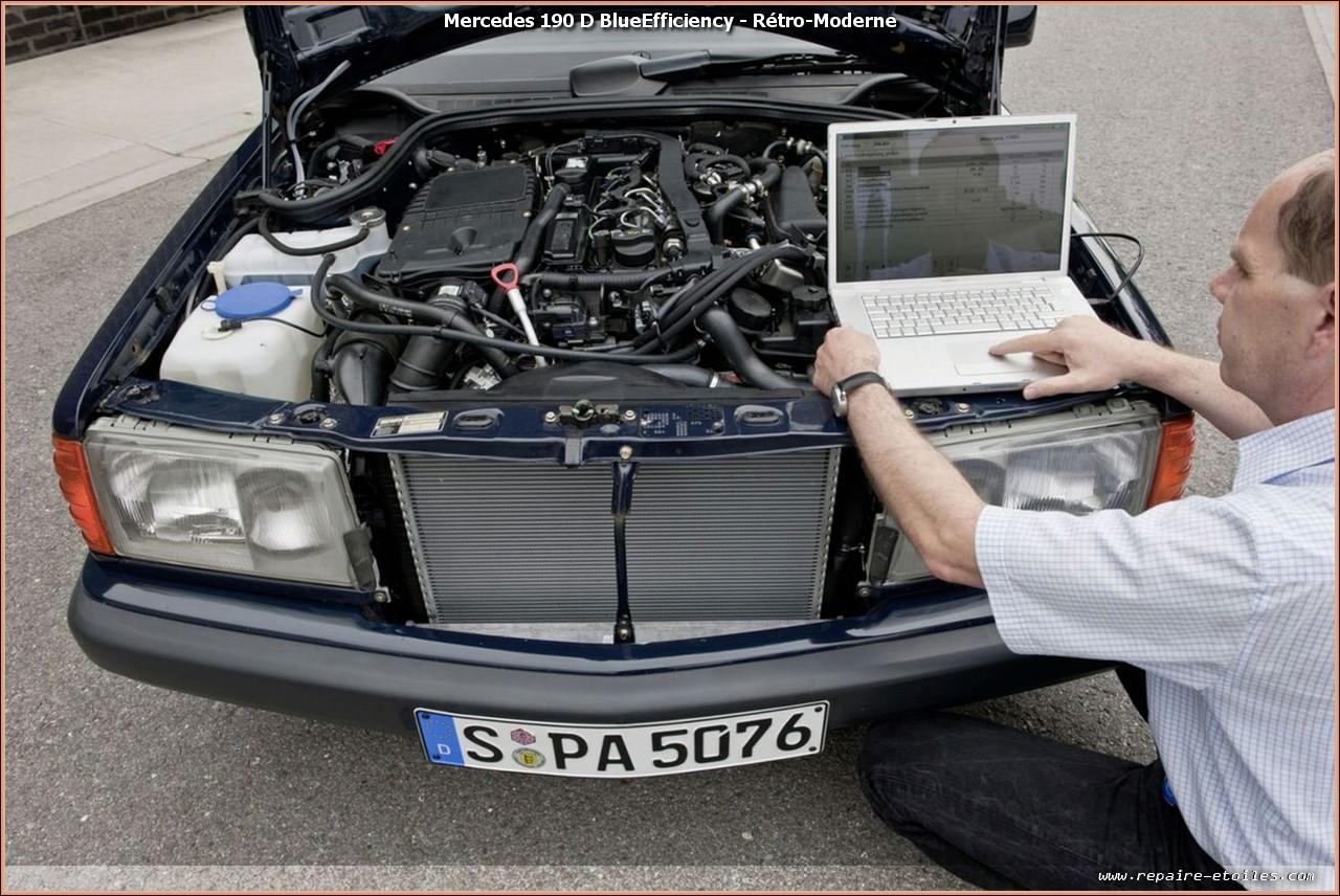 Swap Retro Moderne Mercedes 190 D Blueefficiency