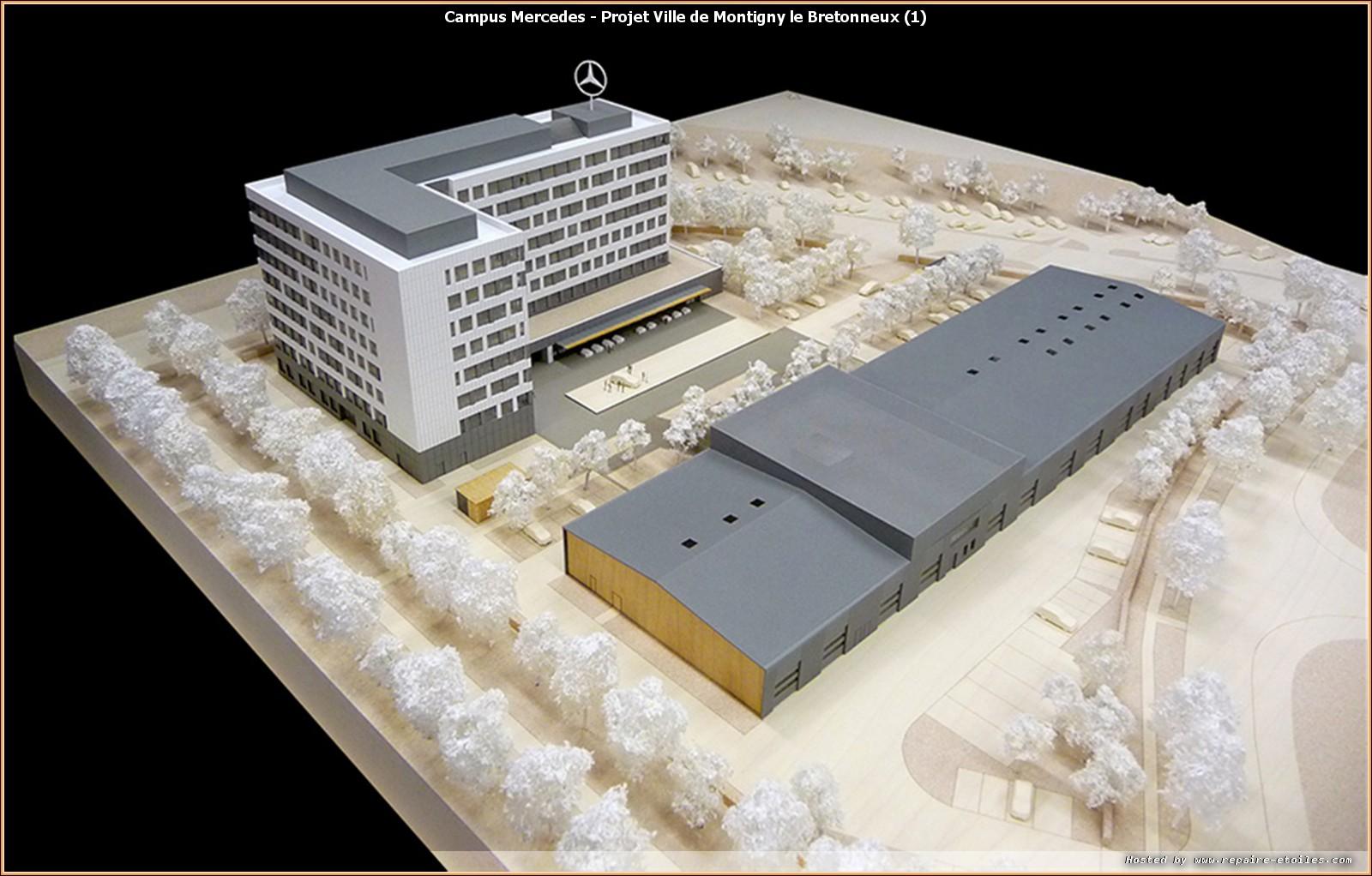 le futur campus mercedes benz france r alis par altarea cogedim. Black Bedroom Furniture Sets. Home Design Ideas