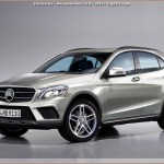 X156 GLA – SUV Mercedes en illustration Digital Graph
