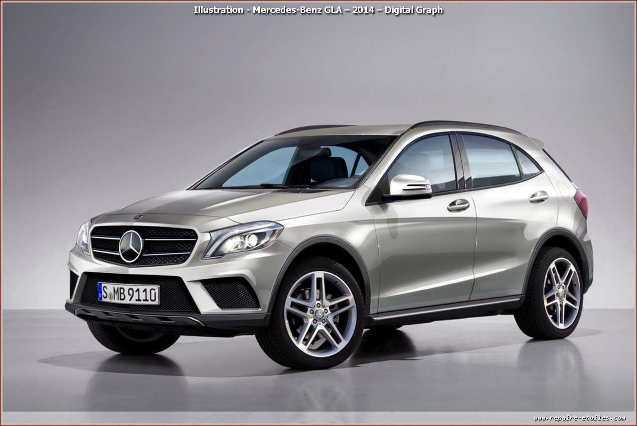 Illustration - Mercedes-Benz GLA – 2014 – Digital Graph