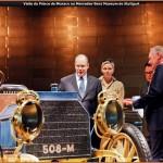 Le Prince Albert II de Monaco au Mercedes-Benz Museum de Stuttgart