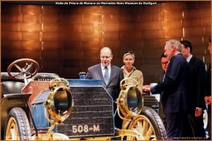 Visite du Prince Albert II de Monaco au Mercedes-Benz Museum de Stuttgart