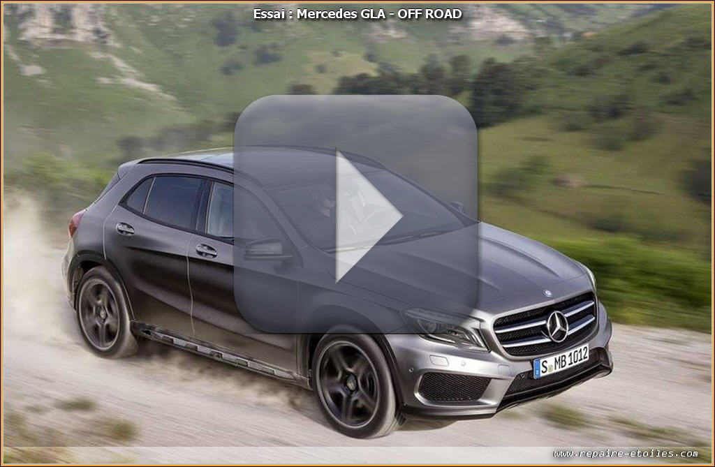 mercedes gla d monstration off road vid o. Black Bedroom Furniture Sets. Home Design Ideas