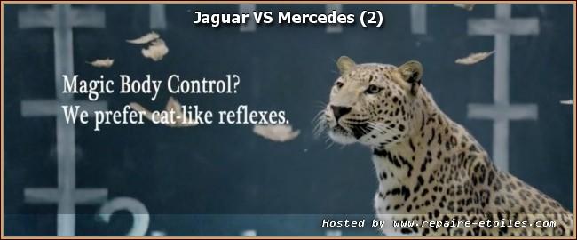 Jaguar deplume Mercedes dans un spot publicitaire.