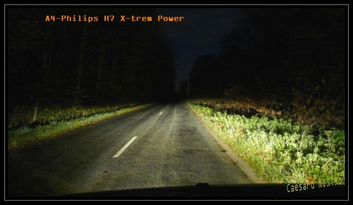 TEST HID-xenon 600K VS Lampes Philips H7 sur B-Klasse B200 CDI CVT
