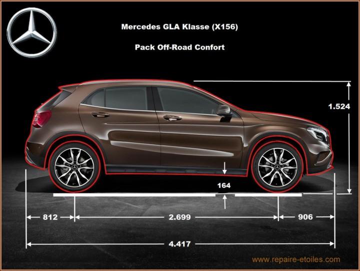 GLA-Klasse Mercedes X156 - OFFROAD