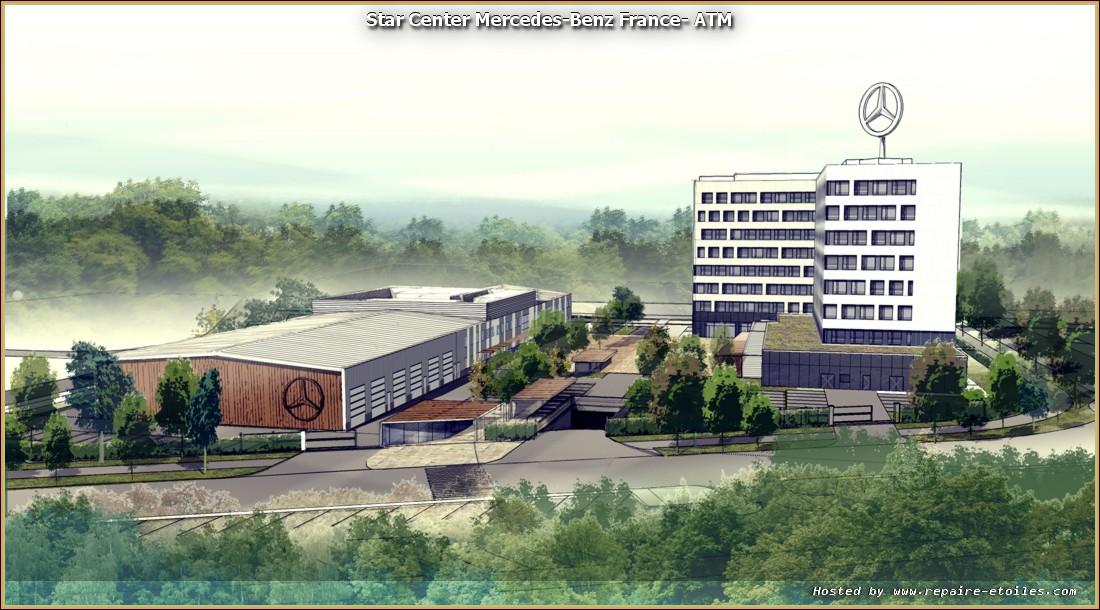 Star center le nouveau si ge social mercedes benz avec for Mercedes benz training center