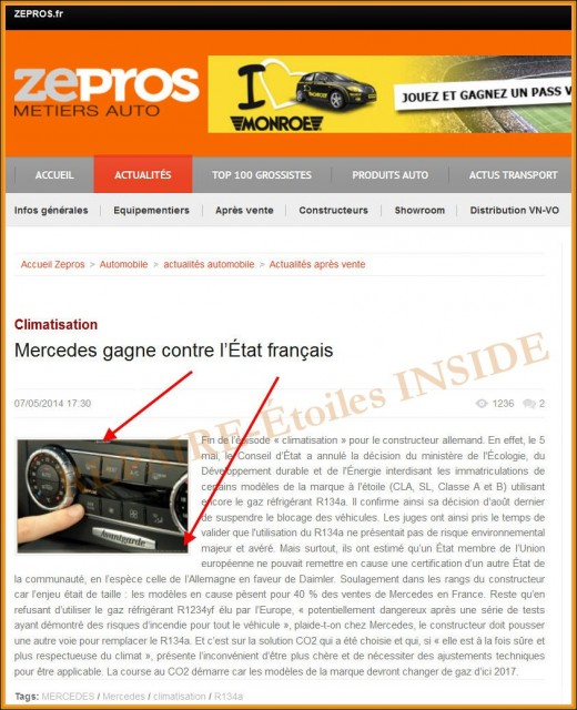 Repaire-Etoiles.com - ZEPROS Climatisation Mercedes