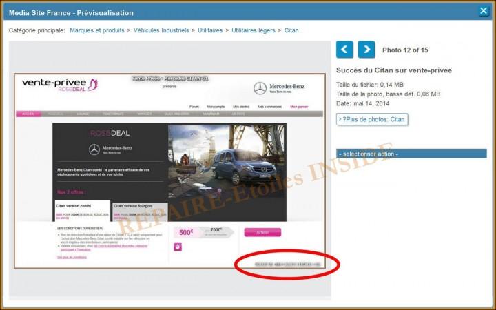 Repaire-Etoiles.com - sur le site Mercedes France (1) - CITAN RoseDeal Vente-Privée