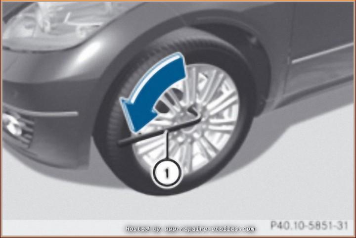 Changement de roue avec Cric de bord (2)