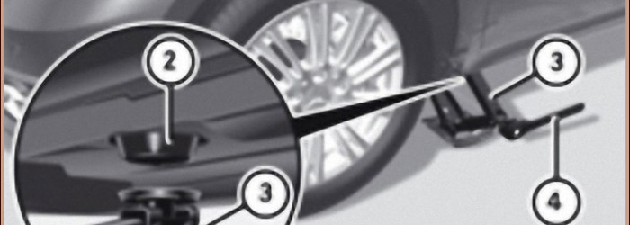 Cric de bord – W245 et W169 – Consignes de levage